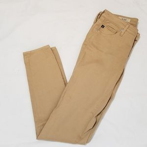 AG Adriano Goldschmied The Stilt Khaki Pant Sz 27R